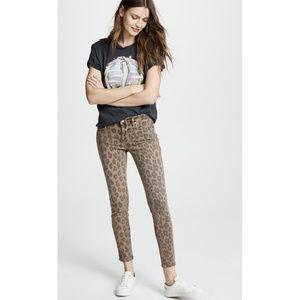 Blank NYC Leopard Print Reade Skinny Crop Jeans